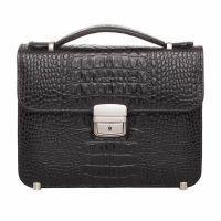 Чоловіча сумка-барсетка Lakestone Foxcote Black Caiman шкіряна чорна 27716d115b510